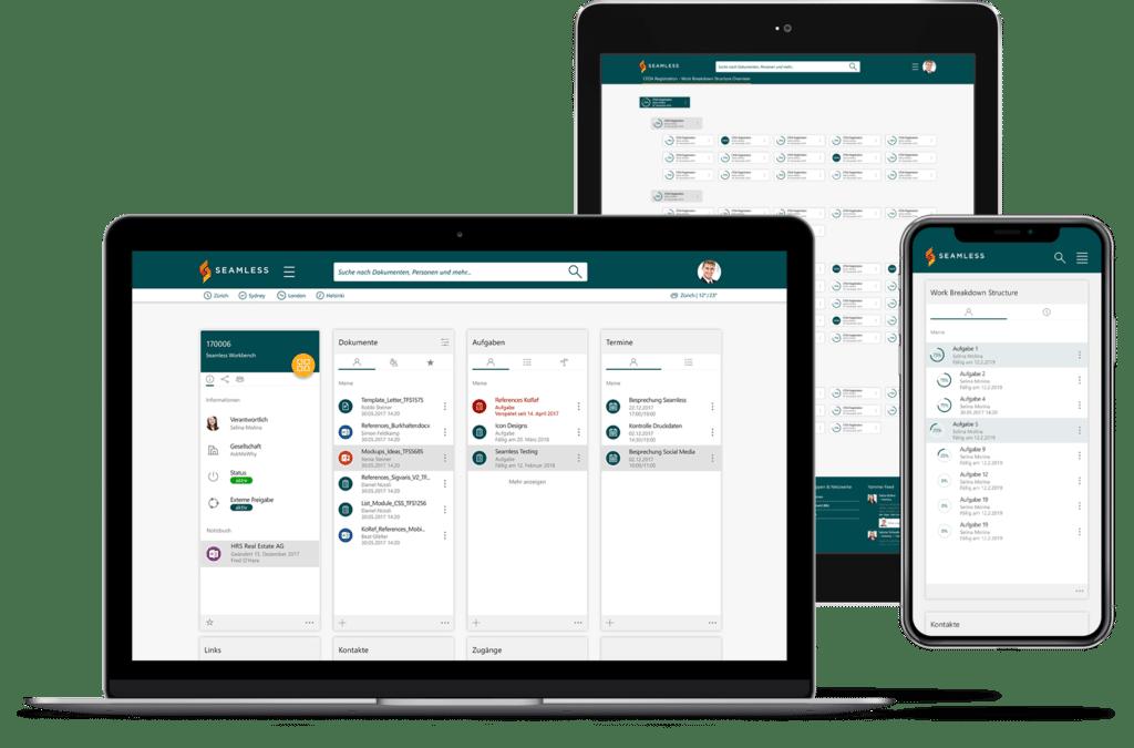 Seamless, Projektarbeitsplatz basierend auf Office 365 und SharePoint
